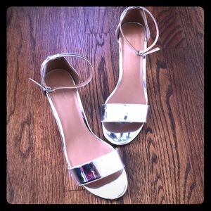 Metallic silver mirrors urban outfitters heels